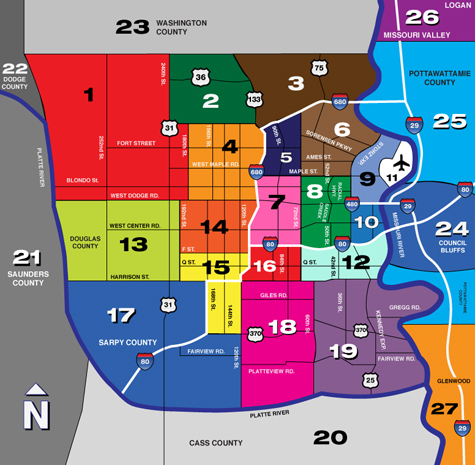 Omaha Mero Area Map